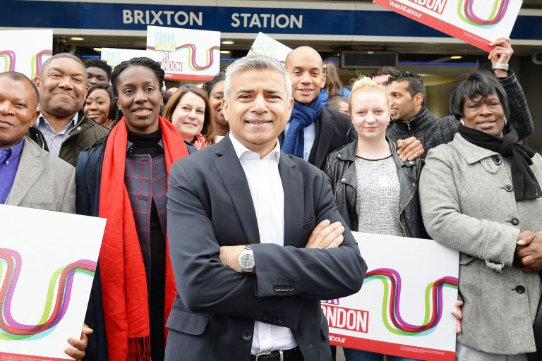 Sadiq Khan, Sunday April 24, 2016. Photo John Stillwell/PA Wire